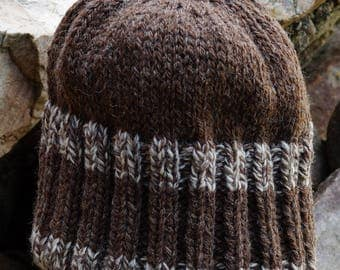 Reversable Heavy Weight Hat pattern using worsted yarn