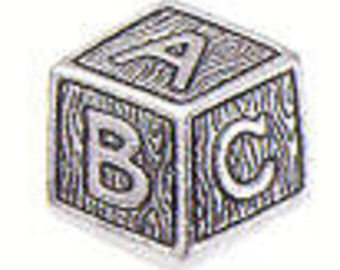BABY BLOCK Danforth pewter shank button