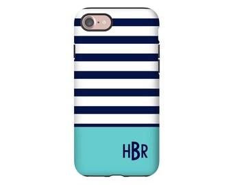 Monogram iPhone 8 case, iPhone 7 case, iPhone X case, striped iPhone 8 Plus case, iPhone 7 Plus case, iPhone 6s/6s Plus, iPhone 6/6 Plus