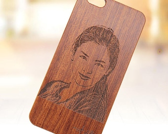 Customized Wood Cell Phone Case for iPhone X/8/78P/7P