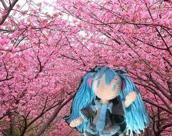 Crochet doll HATSUNE MIKU