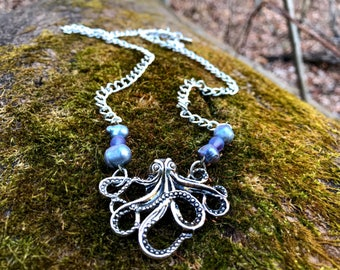 Octopus and Pear Pendant