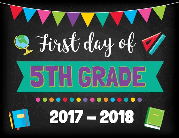 Items similar to First Day Of 5th Grade - Grade School ...