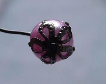 Black Bead Caps, 8mm Bead Caps, Flower Bead Caps, Filigree Bead Caps End Spacers, Gun Metal Black  Bead Caps, Beading Supplies