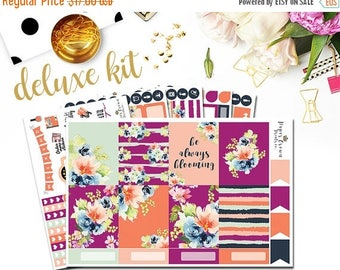 SALE/ BLOOMING Deluxe/Weekly Planner Sticker Kit/Planner Stickers for use with Erin Condren Life Planner/Floral Sticker Set/Spring Stickers