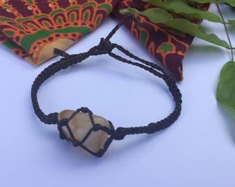 Stone/Crystal Macrame Bracelet