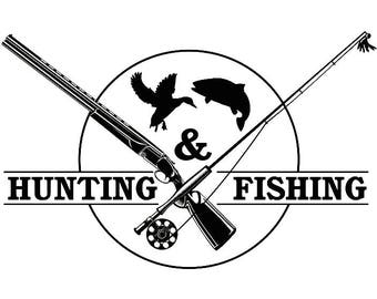 Fishing Logo #10 Fisherman Angling Fish Hook Fresh Water Hunting Tournament Competition Contest.SVG .EPS .PNG Vector Cricut Cut Cutting File