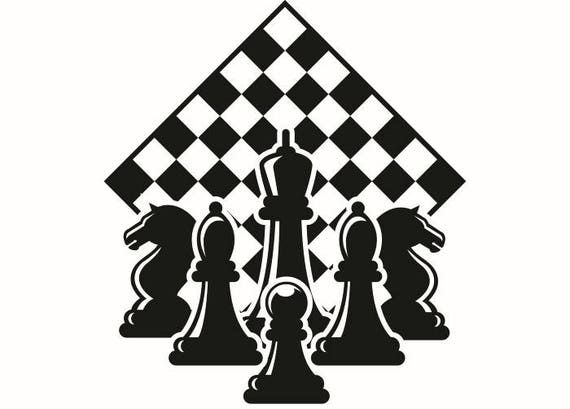 chess logo 1 chessboard pieces setup board game strategy