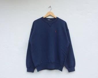 Polo RALPH LAUREN Small Pony Blue Vintage Sweatshirt
