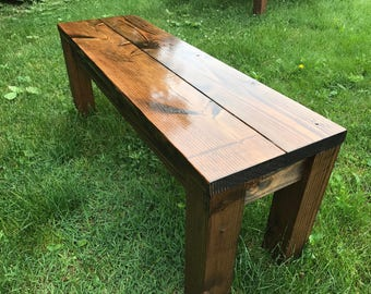 Rustic Bench, Farm Bench, Farmhouse Bench, Farm Table Bench, Wood Bench, Wooden Bench, Dining Room Bench, Entryway Bench, Farm Decor