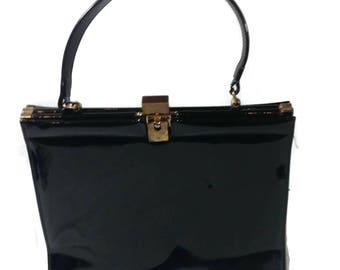 Vintage Lewis Black Patent Leather Purse
