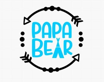 Papa Bear / Dad sticker / Dad gift / Decal for dad / YETI decal for men / Decal for men / Car decal for dad / Gift for husband / car decal