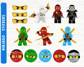 Ninjago stickers Ninjago party Ninjago printables Digital files
