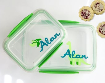 Personalized lunch container- snack box- snack container- Daycare container