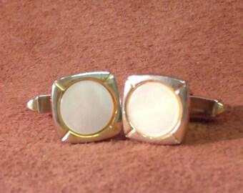 Vintage Pair of Cufflinks, Mother of Pearl