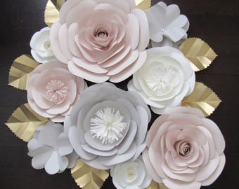 Large Paper Flower Backdrop/Nursery Decor ****Color Customizable****