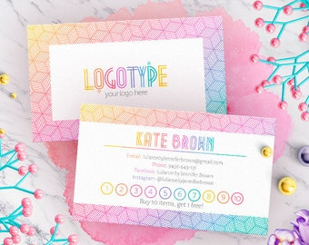 Minimal Lula Punch Cards, Free Customize, Branding, Buy 10 Get 1 Free, For Fashion Consultants/Retailers, Free Leggings, Loyalty Cards