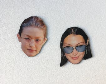 Bella and Gigi inspired magnets - Hadid Sisters, Supermodels, RHOBH