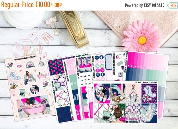 Last Call 25% OFF Zen Weekly Planner Sticker Kit Erin Condren