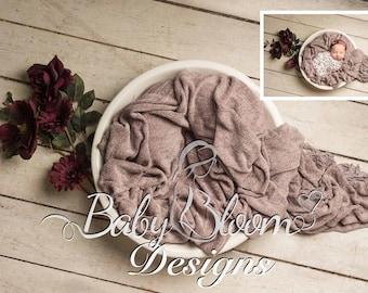Digital Prop/Backdrop Newborn Girl Flower Bowl - Instant Download