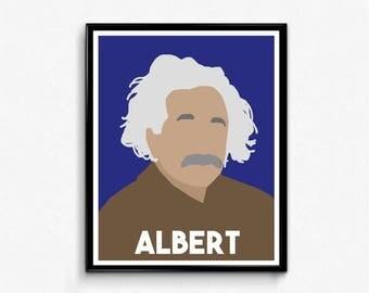 Albert Einstein Minimalist Portrait