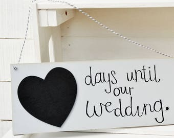 Days Until Wedding Days Until Our Wedding Mr And Mrs Wedding Signs