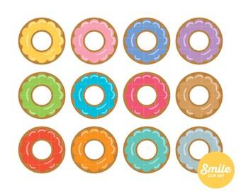 Glazed Doughnut Clipart for Commercial Use - C0075