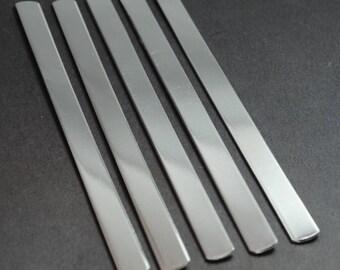 "Twenty-Five 3/8"" x 6"" 14g Aluminum Bracelet Stamping Blanks - 1100 Aluminum - Stamping Supplies, Jewelry Supplies"