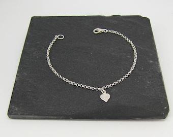 Sterling Silver 925 - Creation of Sparkle heart bracelet