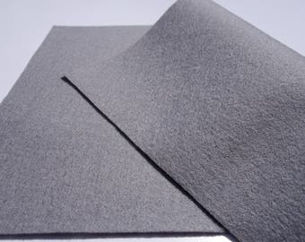 "100% Wool Felt Sheet in Color GREY - 18"" X 18"" Wool Felt Sheet - Merino Wool Felt - European Wool Felt"