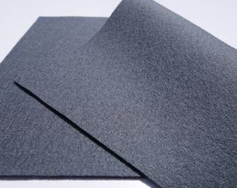 "100% Wool Felt Sheet in Color DARK GREY - 18"" X 18"" Wool Felt Sheet - Merino Wool Felt - European Wool Felt"
