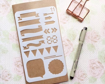 Bullet Journal Stencil #11 - Planner, Journal, Craft, Scrapbooking, Decoration