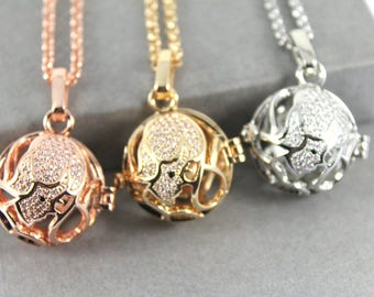 Sparkles Zodiac Virgo Locket with Fillable Glass Orb, Memorial Jewellery, Memorial Locket, Cremation Jewelry, Cremation necklace