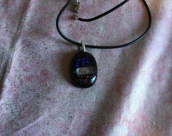 Black dichroic pendant