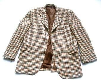 Men's Cashmere Plaid Jacket c 1970