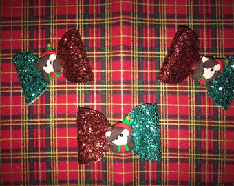 Christma elf hair bow
