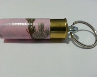 12 Gauge Shotgun Shell Keychain in Pink Camo