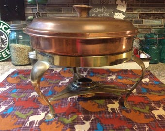 Copper Chafing Dish / Food Warmer / Sterno