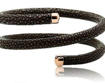Stingray 3x-Twist Rose Gold Plated Bracelet