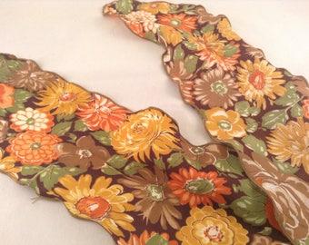 Vintage Mod Floral Scarf - Neck Scarf