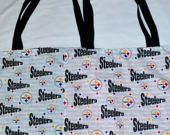 Nerditotes Handmade Handsewn Pittsburgh Steelers Football Fan Tote Bag