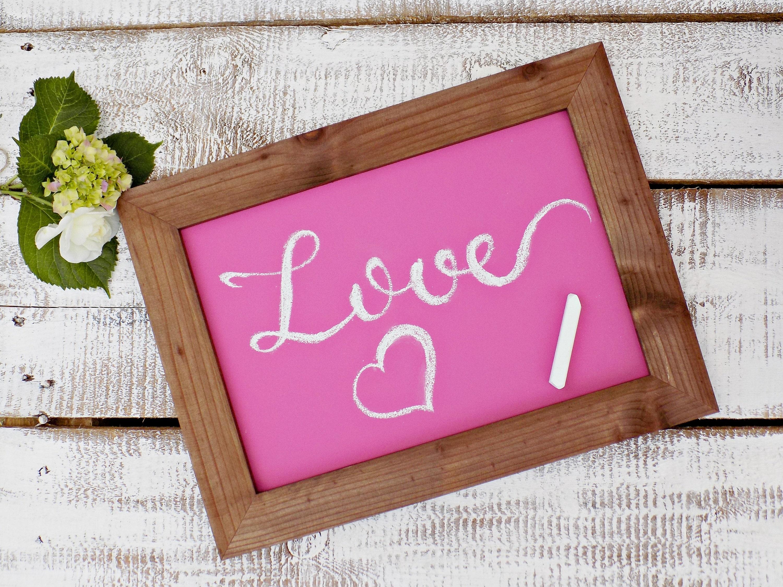 Color Rustic Chalkboard Sign Wedding Signage Framed Blackboard Kitchen Menu Board