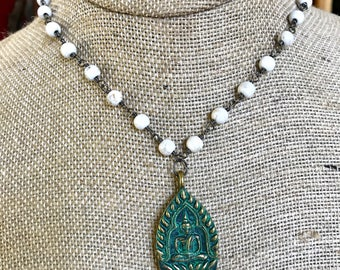 White Buddha Necklace