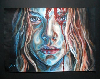 Carrie - Original Acrylics Painting, 23 x 16 inches