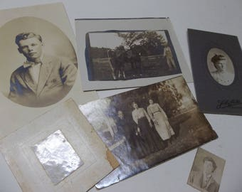 Antique Photos Lot Of 6