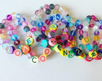 KIDS silly letter bracelets