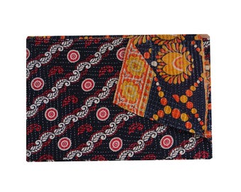 Vintage Kantha Throw Twin Size Patchwork Quilt