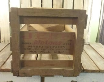 Wooden Melon Crate, Vintage Wood Crate