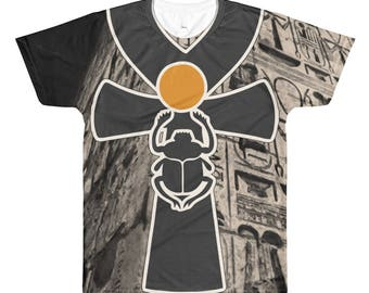 Big Ankh WallAll-Over Printed T-Shirt