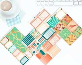 Down in Africa - Weekly Kit Stickers for Erin Condren Vertical LifePlanner